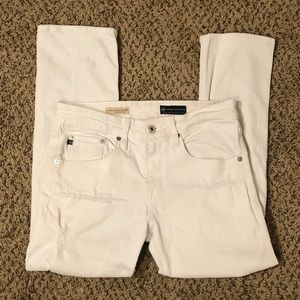 "[AG] White ""The Ex-Boyfriend Crop"" - Size 28R"